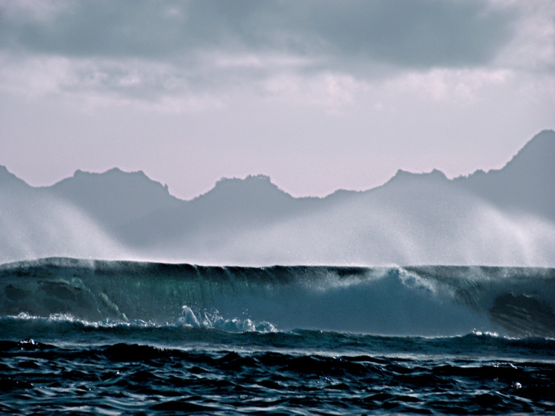 CC01 by Whitt Birnie. High surf, Tahiti reef, Moorea