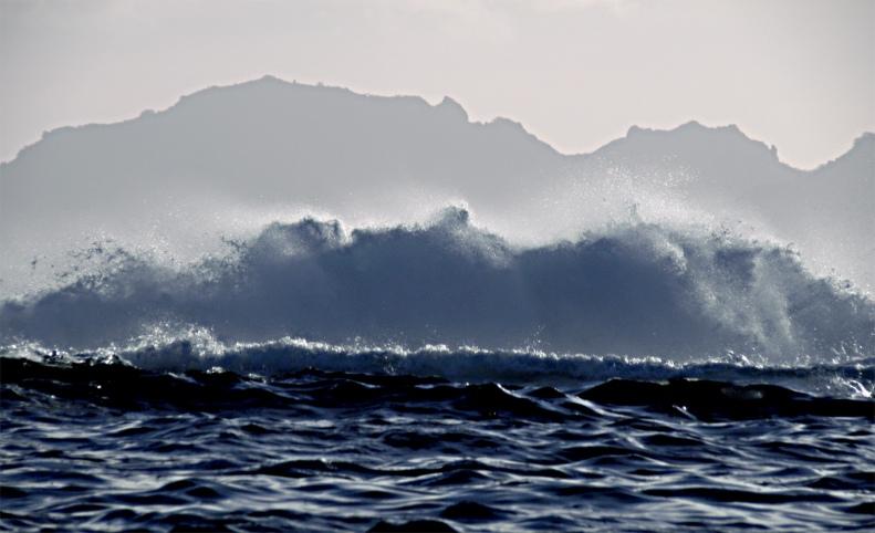 CC03 by WhittBirnie. High surf, Tahiti reef, Moorea