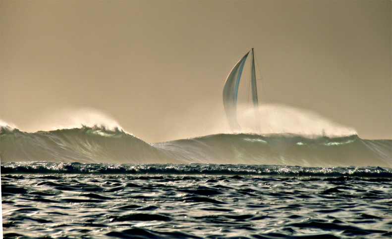 CC17 by Whitt Birnie. High surf, sail