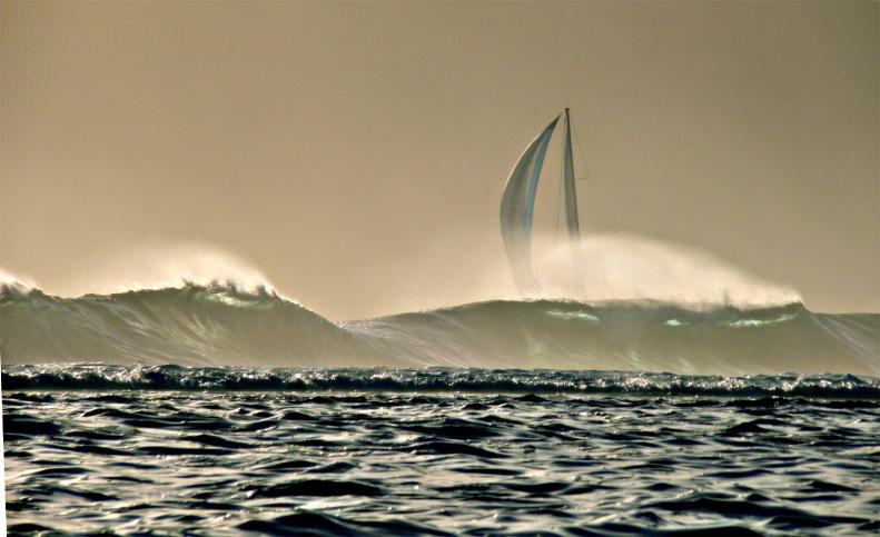 CC17 by Whitt Birnie. High surf, sail