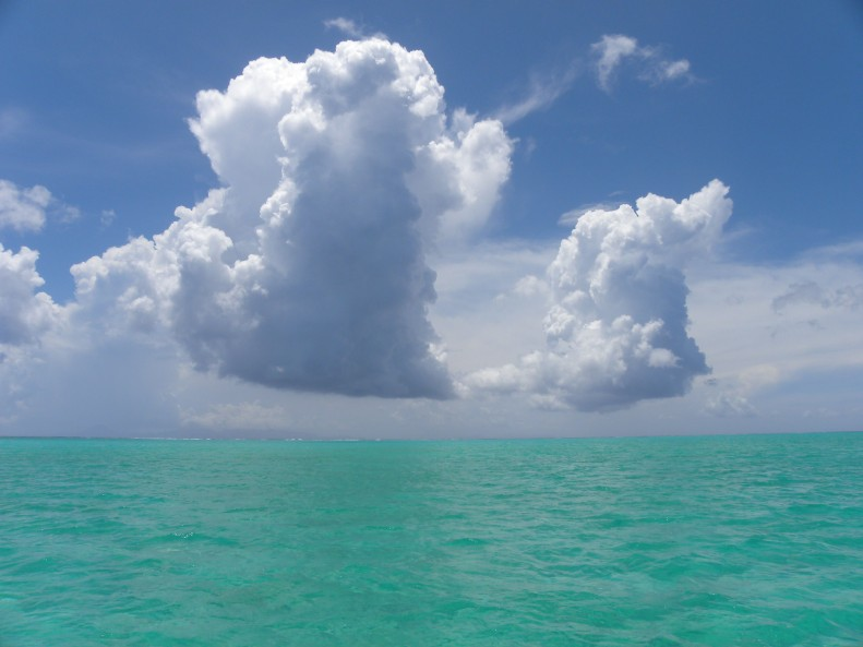 Polynesian lagoon on the solstice.